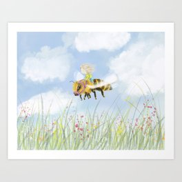 Just Buzzing About Art Print