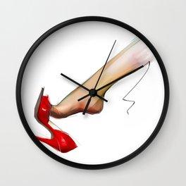 female leg Wall Clock