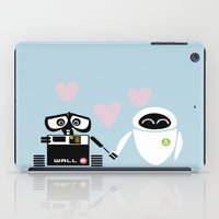 pixar iPad Cases featuring pixar walle and eve love and romance... minimalistic by studiomarshallarts