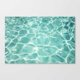 Water Abstract Photography, Teal Ocean, Turquoise Sea, Water Ripple Seascape Canvas Print