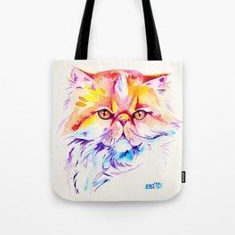 Persian Cat Watercolor Painting Tote Bag