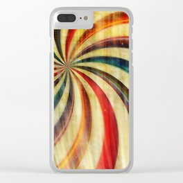 Wild Twirl Abstract Clear iPhone Case