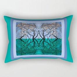 Tree Gate Between Water And Sky Worlds Rectangular Pillow