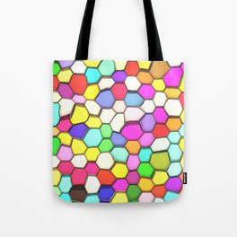 Distorted Colored Hexa Pattern Tote Bag