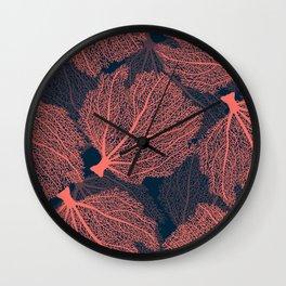 Fan living coral Wall Clock