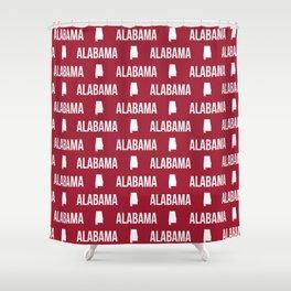 Alabama bama crimson tide pattern football varsity alumni Shower Curtain