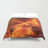 lotr Duvet Covers featuring Into Mount Doom by Lyle Hatch