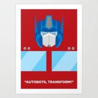 optimus prime Art Prints featuring Optimus Prime by IlPizza