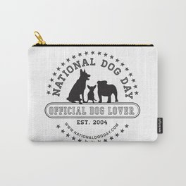 Official Dog Lover; National Dog Day  Carry-All Pouch