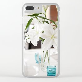 White Lily flowers bridal decoration Clear iPhone Case