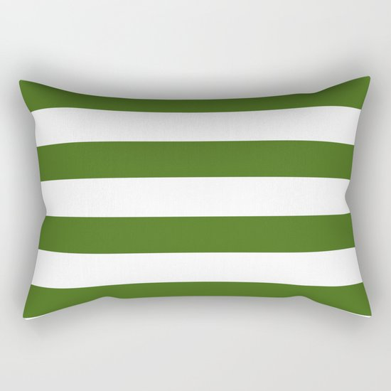 Simply Stripes in Jungle Green Rectangular Pillow
