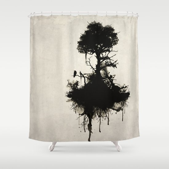 Last Tree Shower Curtain