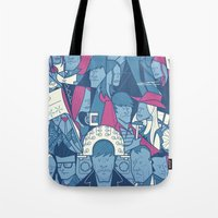 eternal sunshine of the spotless mind Tote Bags featuring Eternal Sunshine of the Spotless Mind by Ale Giorgini