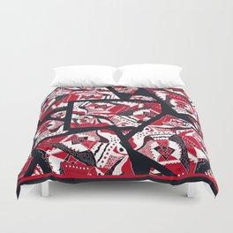 TRICHROMATIC DELIRIUM RED BLACK WHITE Duvet Cover