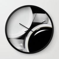 yin yang Wall Clocks featuring Yin & Yang by Tanja Riedel