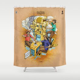 The Fantastic Craft Coffee Contraption Suite - The Fantastic Craft Coffee Contraption Shower Curtain