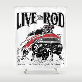 1956 CLASSIC HOT ROD Shower Curtain