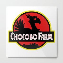 Chocobo Farm Metal Print
