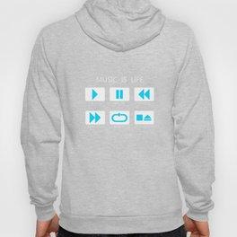 Blue Light Music Button Hoody
