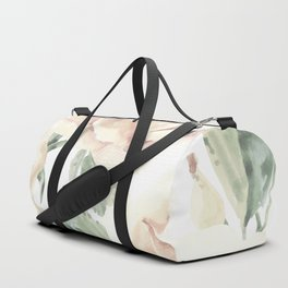 Misty Pastel Rose Garden Duffle Bag