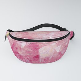 Pink Rose Quartz Crystal Fanny Pack