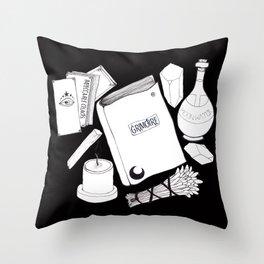 Magic Stuff (black) Throw Pillow