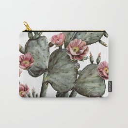 Prickly Pear Cactus Painting Carry-All Pouch