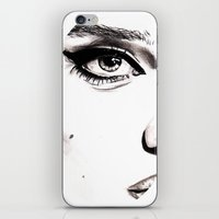 sky ferreira iPhone & iPod Skins featuring Sky ferreira by Annie Mae Herring