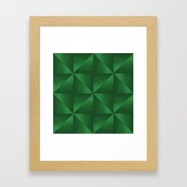 Pyramids and Windmills in Green Framed Art Print