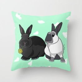 Elly and Bobby Throw Pillow