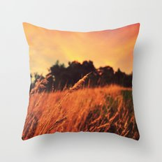 Sunset Pastures Throw Pillow