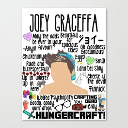Joey Graceffa College Canvas Print