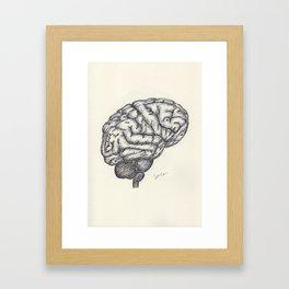 BALLPEN BRAIN 2 Framed Art Print