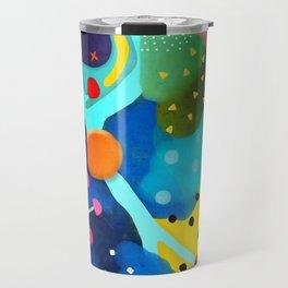 Abstract Art - Lagoon mushrooms rupydetequila amazonia dots cheetah Travel Mug