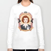 scully Long Sleeve T-shirts featuring Dana Scully by heymonster