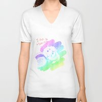 hamster V-neck T-shirts featuring Hamster by wingnang
