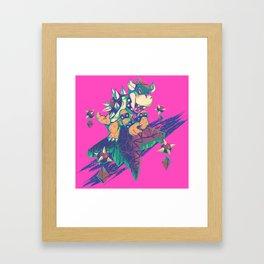 Bowser in the Sky Framed Art Print