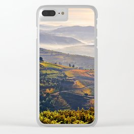 morning mists in the Vale do Douro Clear iPhone Case