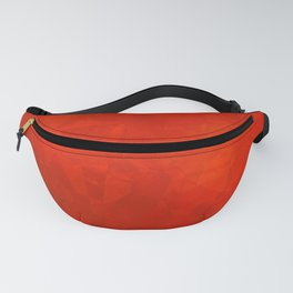 Bright Red Polygonal Shapes Fanny Pack