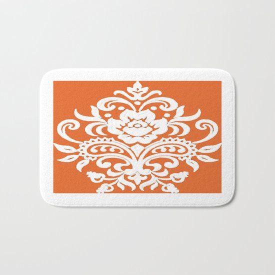 Damask on Peach Bath Mat