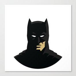 Minimal Bat man Silhouette Canvas Print
