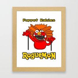 Puppet Rabies Framed Art Print