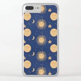 Celestial Bodies Clear iPhone Case