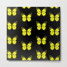 Yellow Butterflies - First Sign of Spring Metal Print
