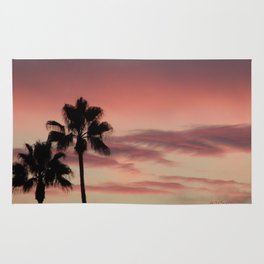 Atmospherics Number 3: Two Palms in the Sunset Rug