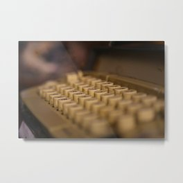 Máquina de escribir Metal Print