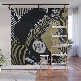 Zulu girl with zebra print 4 Wall Mural