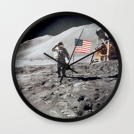 Apollo 15 - Military Salute Wall Clock