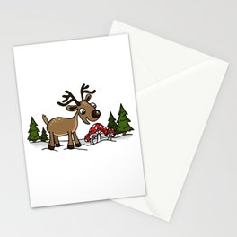 Reindeer Munches Magic Mushrooms Stationery Cards