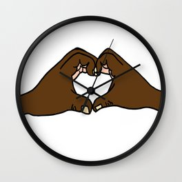 Heart Hands Wall Clock
